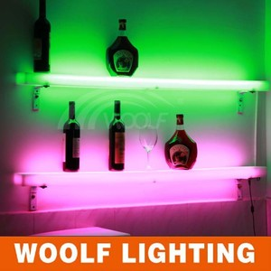 remote control led lighting wine shelf led bottle stand