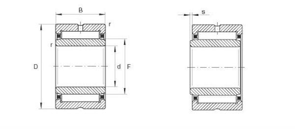 Needle bearing K455017, k455027, k455320, k485317, k505520, k505820, k505825
