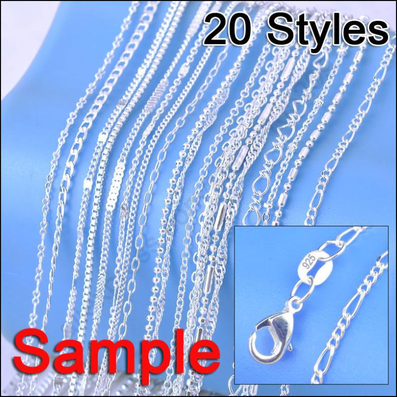 2020 Wholesale Jewelry Sample Order Mix 20 Styles 18 Genuine 925 Sterling Silver Link Necklace Set Chains Lobster Clasps 925 Tag From Diablo3 21 5 Dhgate Com