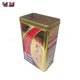 Rectangle gift metal box empty tea container / coffee package tin box