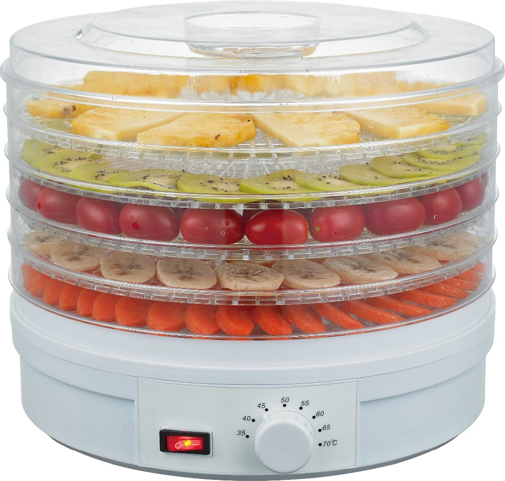 5 Trays Electric Hot Air Circulation Vegetables and Fruits Dehydrator Dryer Machine
