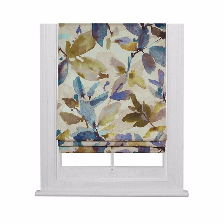 Decorative American christmas church floral roman window blind