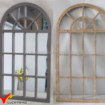 Arched Wood Shabby Chic Antique Window Mirror Buy