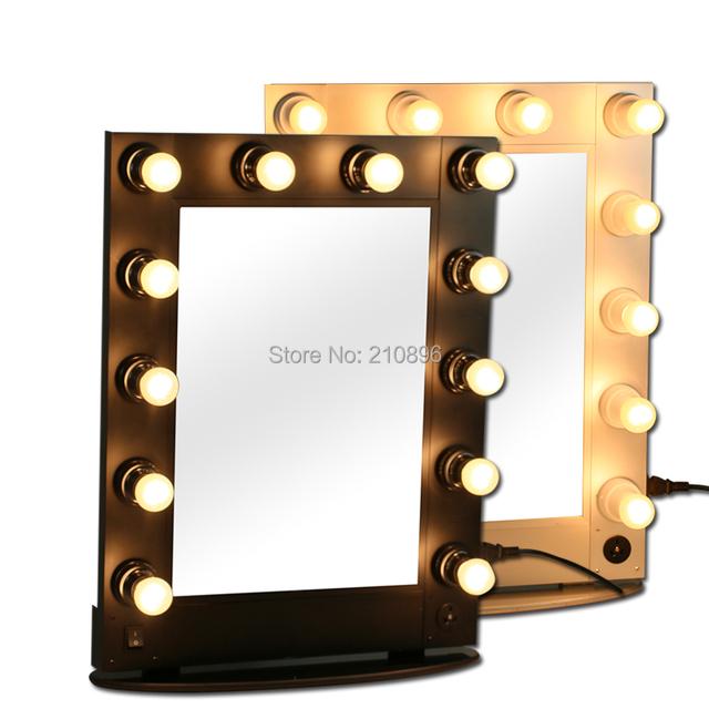 professionelle beleuchtete schminkspiegel metallic kosmetik make up fall. Black Bedroom Furniture Sets. Home Design Ideas