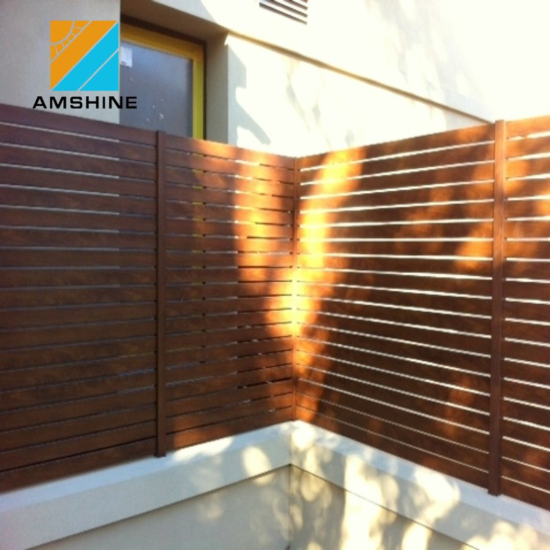 Fixed Aluminium Louver Fence Panel, Aluminum Privacy Fence