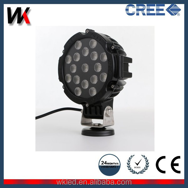 "Super High Intensity 6"" Round 51 Watt Heavy Duty High Powered 51w LED Work Light"