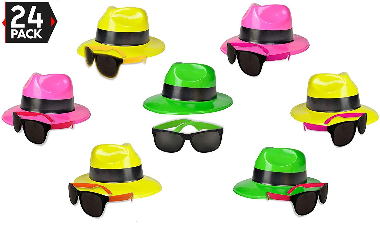 41a3dcf5834 Get Quotations · 24 Neon Party Supplies Pack - Party Favors Assortment - 12  Neon Sunglasses   12 Neon
