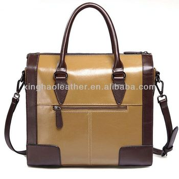 6d902212a2 2018 trendy color unique design women pure leather handbag brown leather  shoulder long strap bag