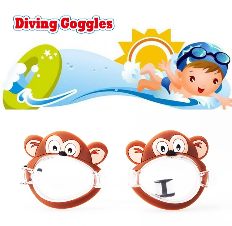 kids transparent lenses silicone frame material monkey design swimming goggles - Monkey Picture Frame