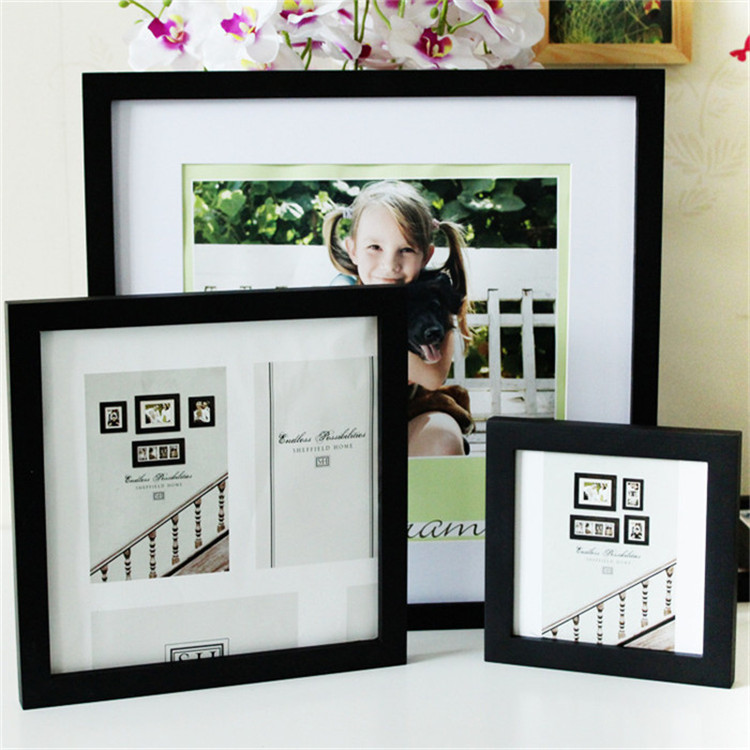 Wholesale square picture frames fashion desk wood picture frame