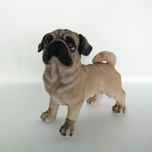 Resin pug dog figurines