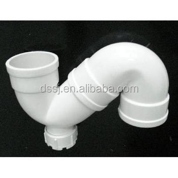 Plastic pvc s type trap plumbing pipe fitting with for Plastic plumbing pipe types