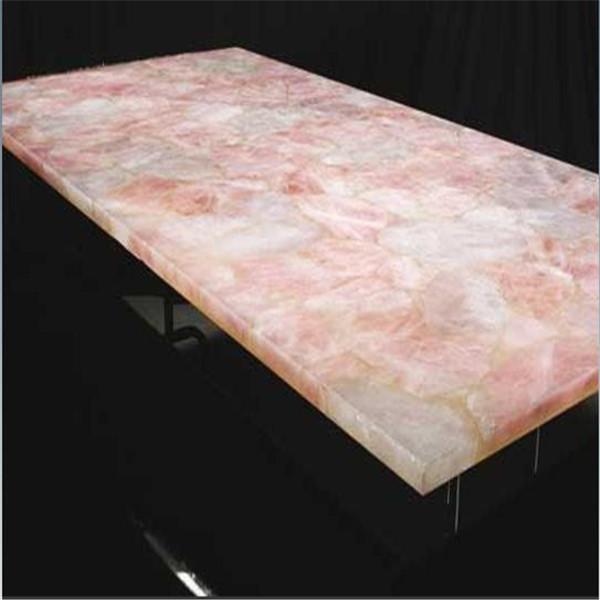 Natural Stone Rosepink Quartz Slab For Decorative