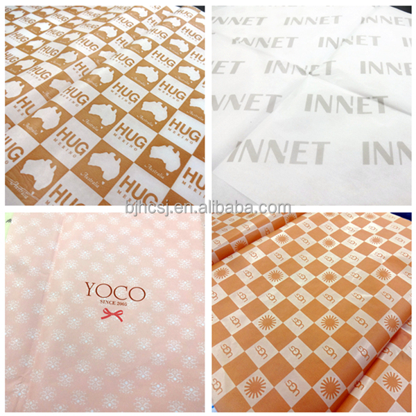 Silk tissue custom wrapping paper with UV logo