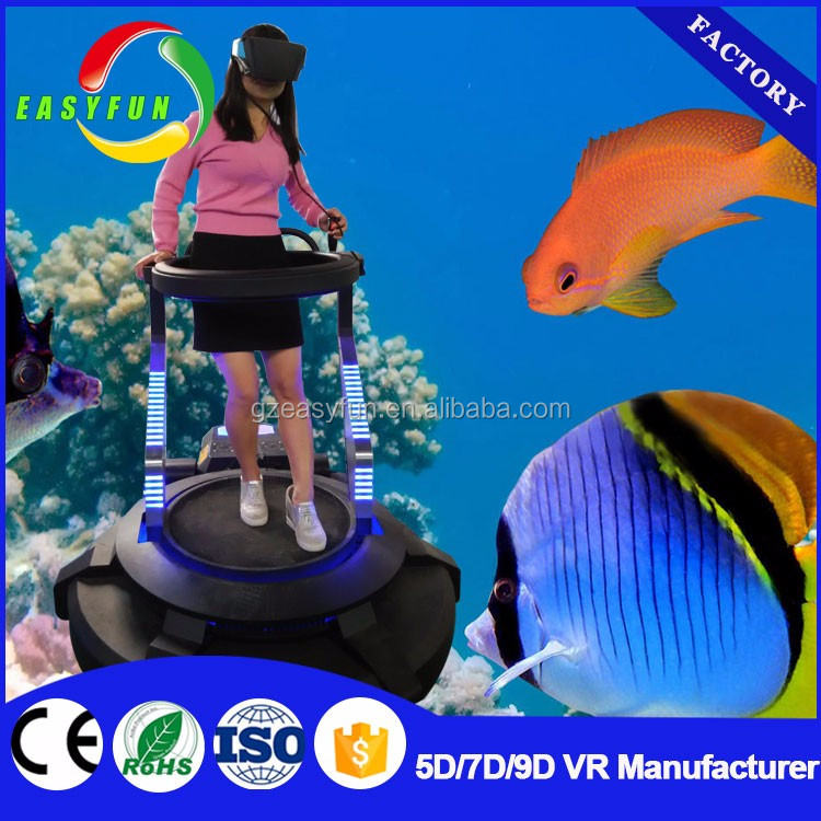 2017 hottest wholesale Vibrating standing VR 9d virtual reality simulation rides