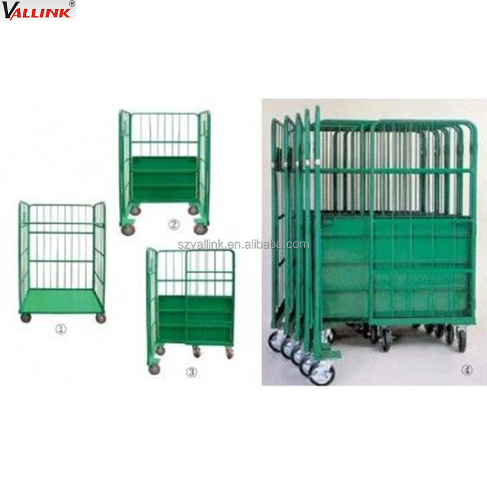 collapsible 3 sides roll cage trolley buy roll cage trolley roll trolley roll cage product on. Black Bedroom Furniture Sets. Home Design Ideas