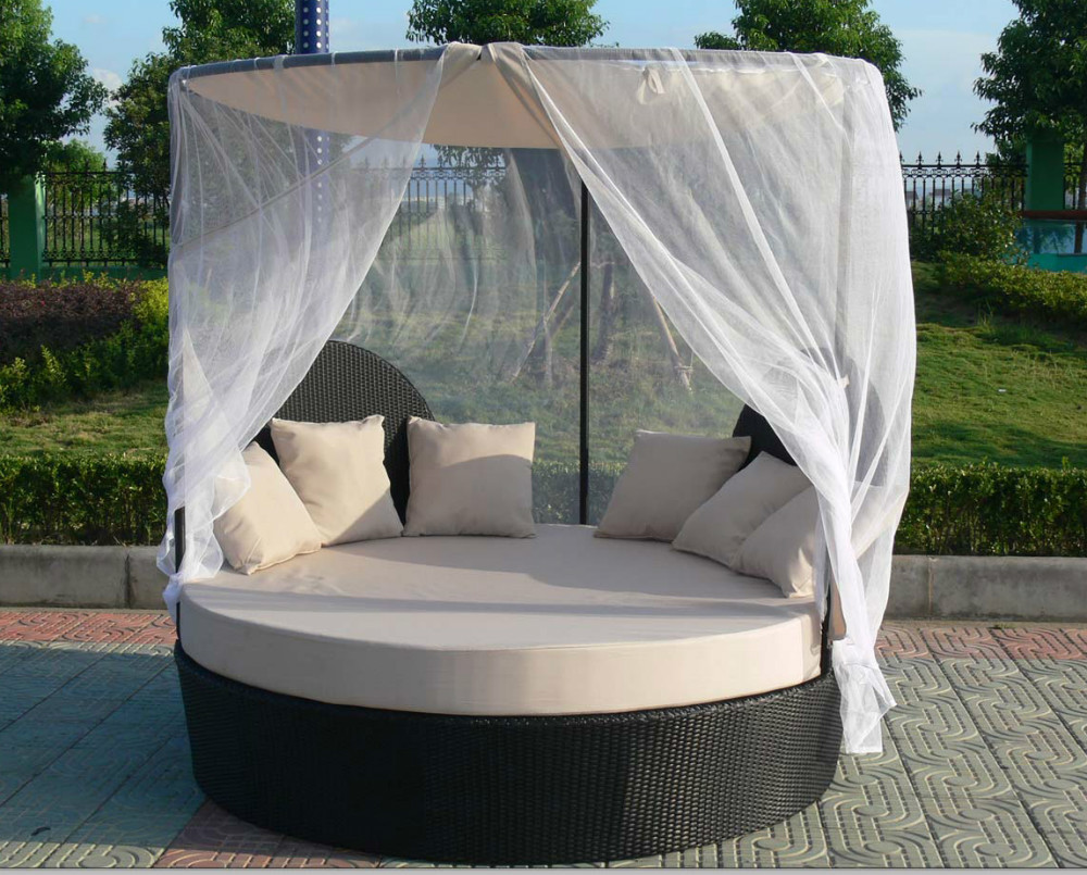 rotin jardin canap lit ext rieur rond en rotin daybed. Black Bedroom Furniture Sets. Home Design Ideas