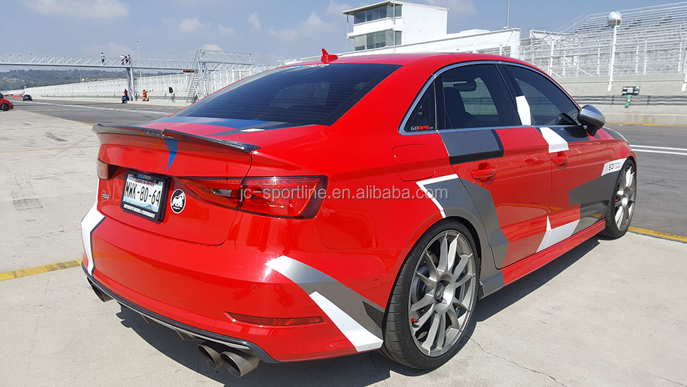 14 16 a3 s3 carbon fiber rear spoiler for audi a3 8v s3. Black Bedroom Furniture Sets. Home Design Ideas