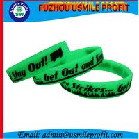 New Brand Custom Fluorescent OEM Silicon Wristband