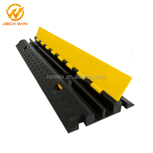 2 Channel Rubber Cable Channel Hump Protector on Road Crossing