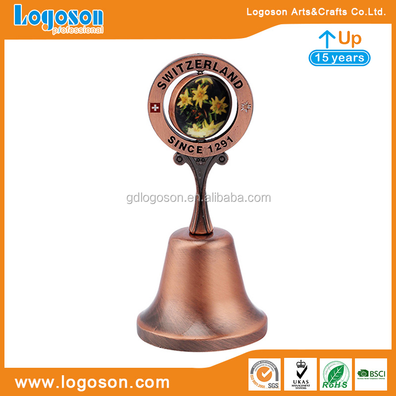 Custom Decorative Souvenirs Common Design Antique Brass/Copper/Silver Bells Christmas Ornaments Mini Metal Blank Bell