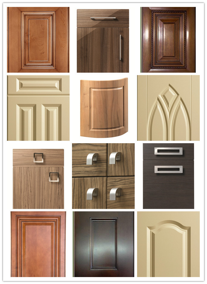18mm Fancy Mdf Board Vinyl Wrapped Pvc Kitchen Cabinet