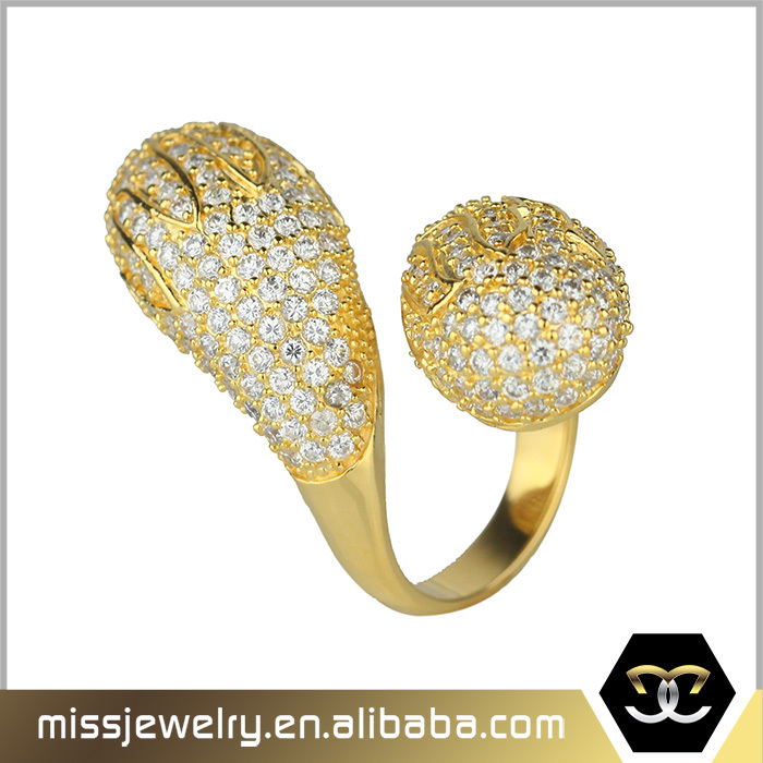 Missjewelry Popular Sale Pure Simple Gold Ring Without Diamond ...