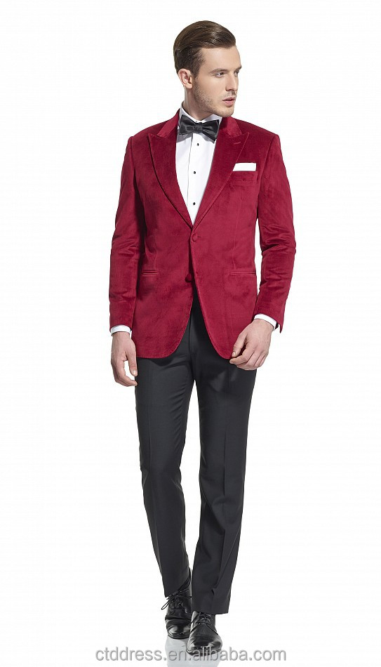 Fancy Red Velvet Slim Fit Suits For Men - Buy Slim Fit Suit,Slim ...