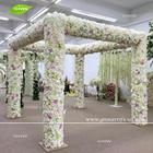GNW FLWA171102 Silk lily hydrangea rose square pavilion four stands for wedding