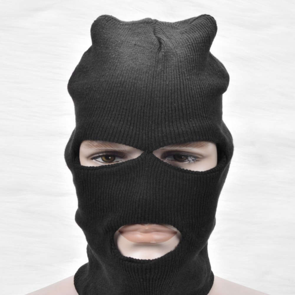 Full face mask neck warmer hood balaclava outdoor winter sports hats - Get Quotations 3 Holes Full Face Mask Helmet Facemask Knit Balaclava Neck Warmer Windproof Winter Outdoor Sport Motorcycle