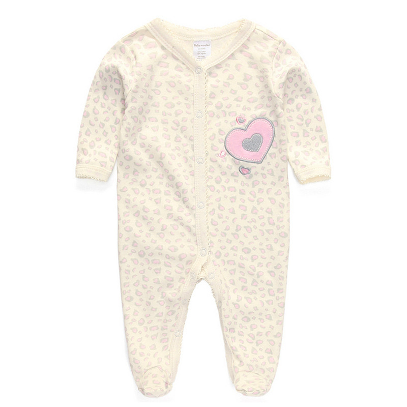 c4a42f200 100% Cotton Baby Rompers Wear Jumpsuits Kids New Born Baby Boy Girl ...
