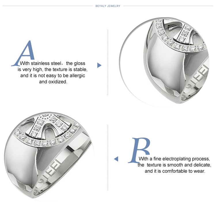 Nautical wheel design wholesale stainless steel biker rings