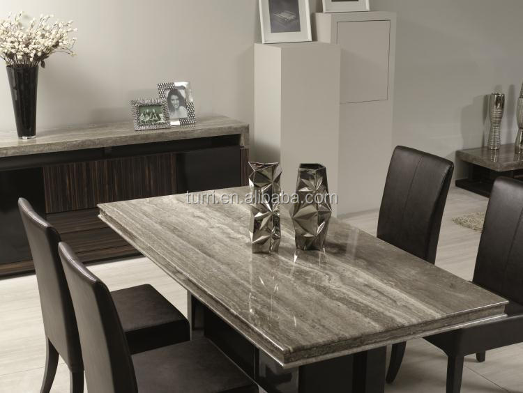 Luxury marble top dining table for living room furniture for Marble dining room table