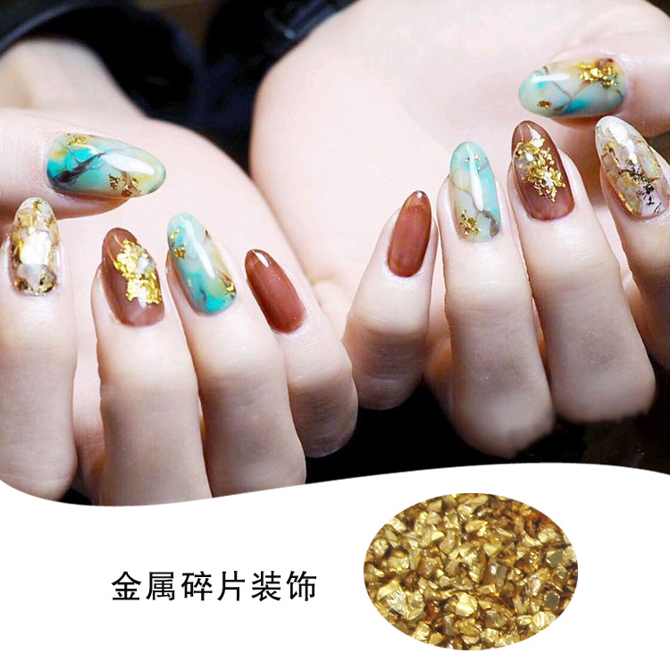 12pcs Metal Fragments Material Nail Art Rhinestone for Nail Art Decoration