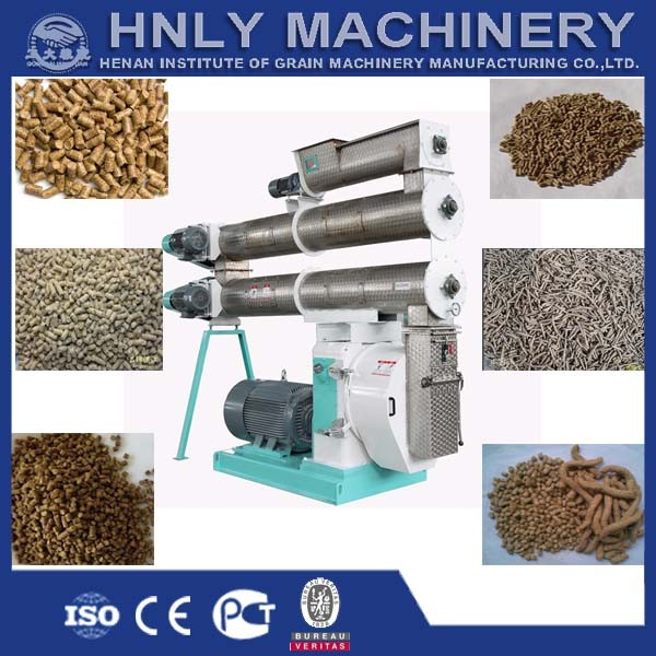 6-7t/h Stainless steel animal feed machine ring die pellet mill for sale