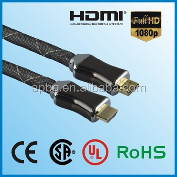 Luxurious golden ends HDMI CABLE 1080P 3D hdmi cable china HDMI 1.4 version