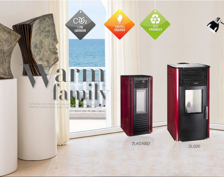 wood pellet stoves high efficiency carbon steel glass double door freestanding