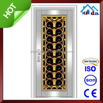 QD-SS131 Stainless Steel Frame With New Designs Stainless Steel Door
