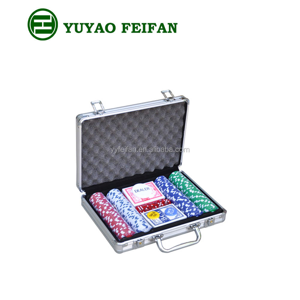 Factory direct supply 200 pcs cheap aluminum poker chip set
