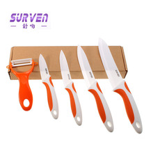 2015 New Arrival Kitchen Knives 3 4 5 6 in Zirconia Ceramic Knife Set + Peeling Machine Multi Color Processing Sheath Cooking
