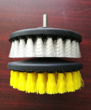 "Soft Scrub Brush Car Seat Carpet Mat 5"" Round Brush w/ Power Drill Attachment"