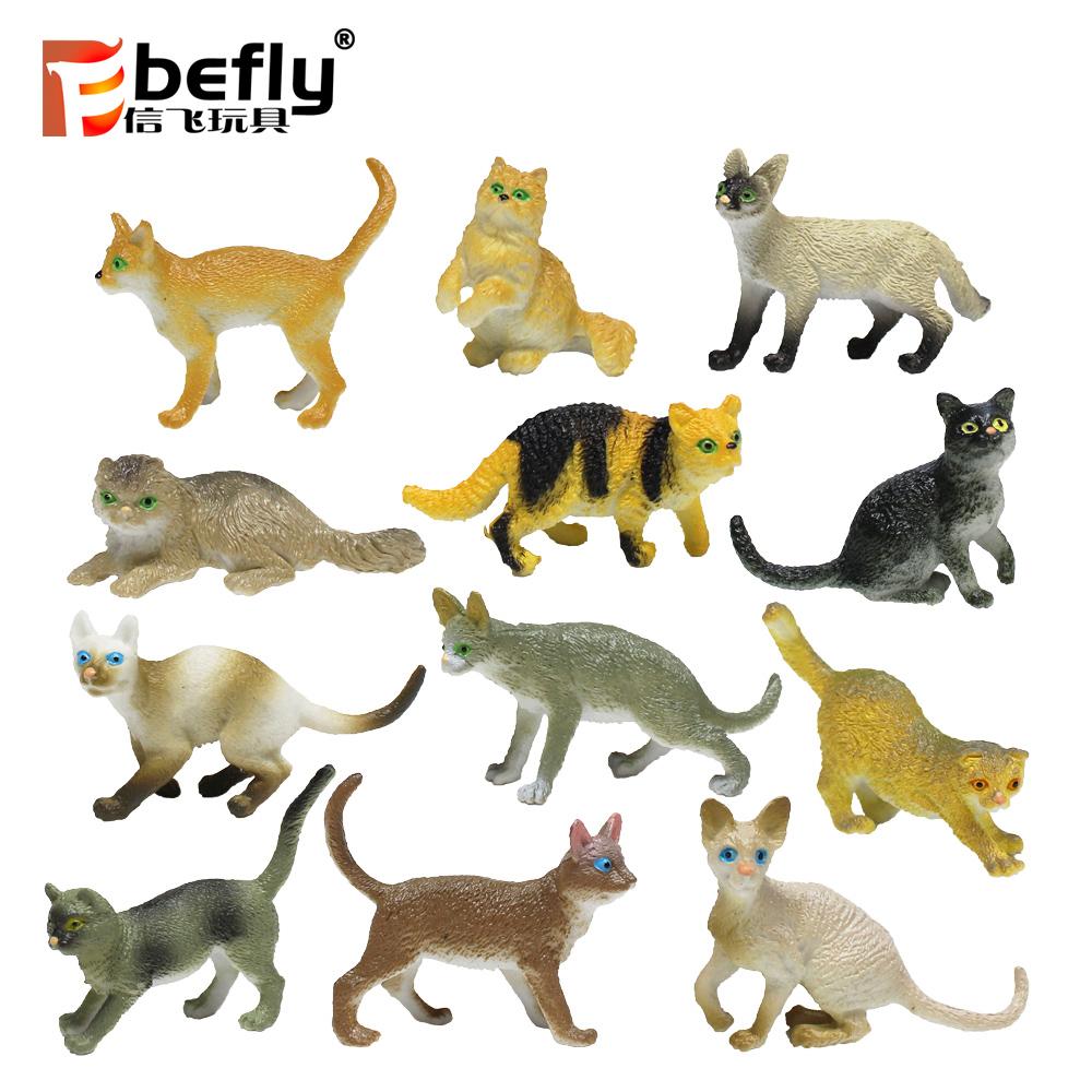 חקלאיים חמה מכירת play איור צעצוע פלסטיק צלמיות בעלי החיים חתול
