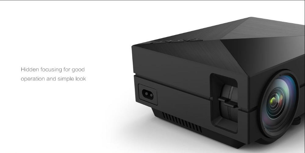 מתנה חינם 8GB SD GM60 HD קולנוע ביתי מיני מקרן עבור משחקי וידאו סרט הטלוויזיה תומך HDMI VGA, AV, SD נייד