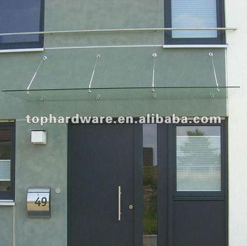 modern glass porch door canopy