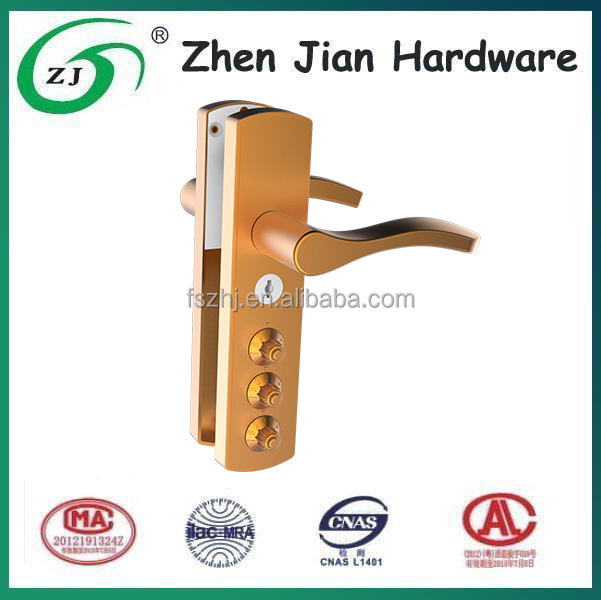Zinc alloy mortise lever handle lock with code for french door