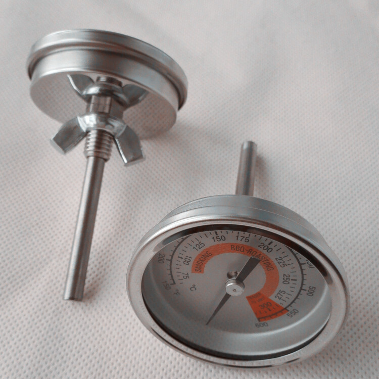 Stainless steel dial type bimetal thermometer