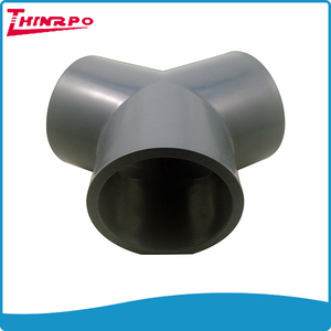 Injection Mold with logo Plastic pvc pipe fittings pvc tee