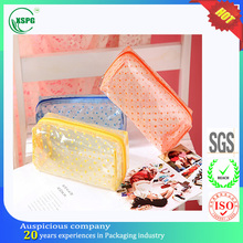 Korean small candy color pvc makeup cosmetic pouch bag for travel