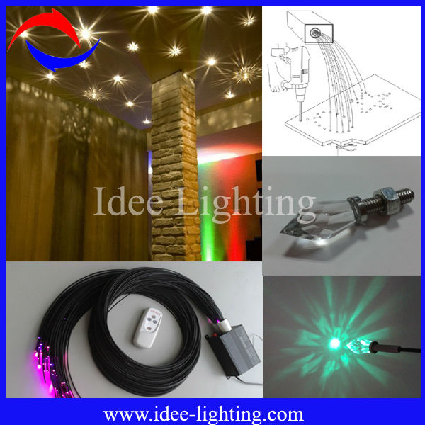 multi color led fiber optic ceiling light kit