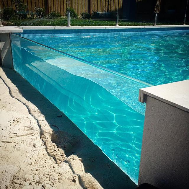 PG no amarillentos una vez fundido claro acrílico piscina de plexiglás
